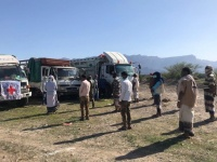 """""""الصليب الأحمر"""" يوزع أغذية على 22400 شخص في حجر"""