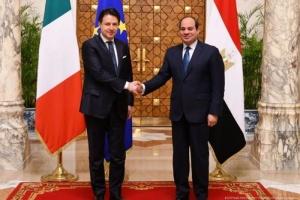 مصر وإيطاليا تتفقان على رفض التدخل والحل السلمي في ليبيا