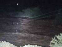 سيل دوعن يقطع تيار الكهرباء عن المنطقة