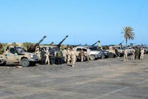 الجيش الليبي يستهدف رتلاً تابعًا لـ الوفاق بمصراتة