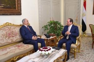 اليوم.. لقاء مرتقب بين الرئيس المصري وخليفة حفتر