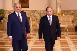 السيسي يستقبل حفتر ورئيس البرلمان الليبي بالقاهرة