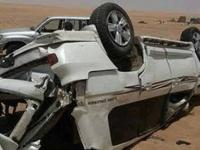 مصرع أب وابنه وإصابة 4 بحادث مروري في لحج