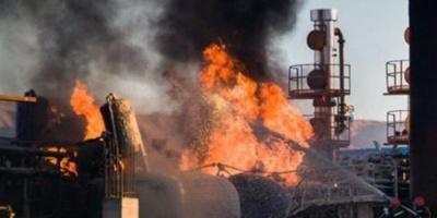 """حريق ضخم في مُحيط سجن """"إيفين"""" الإيراني (فيديو)"""