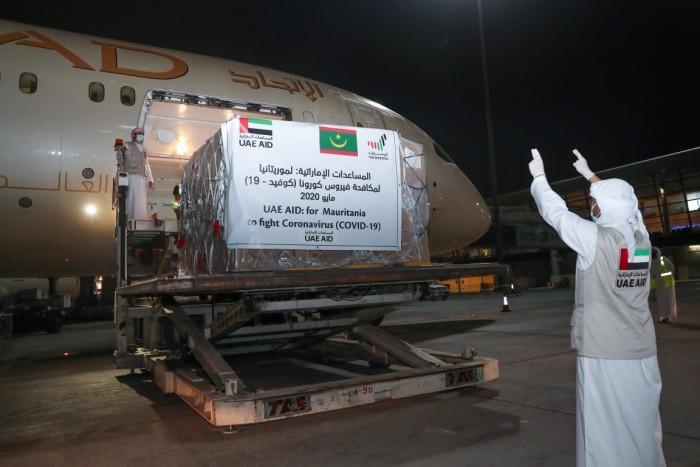 18 طنا.. الإمارات تدعم موريتانيا بطائرة إمدادات طبية لمكافحة كورونا
