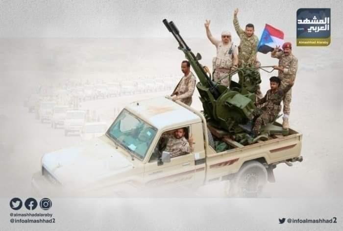 تعزيزات عسكرية تصل إلى جبهة أبين