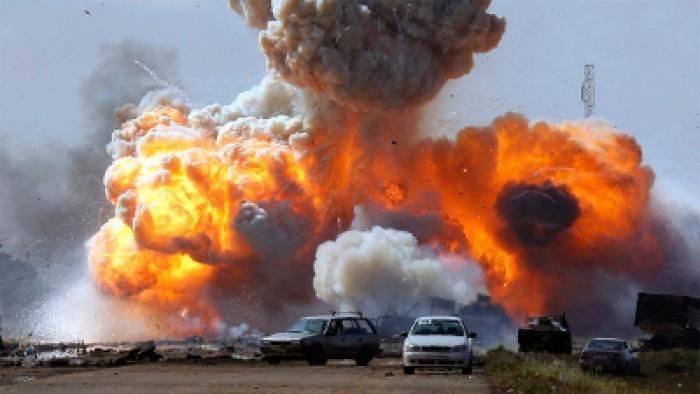 سقوط صاروخين قرب مطار بغداد يستهدفان موقعا للقوات الأميركية
