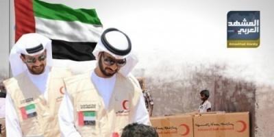 """إغاثات الإمارات الصحية.. """"إنسانية"""" تتجاهل افتراءات الشرعية"""