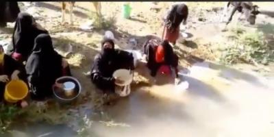 شاهد..قرية بالأحواز بدون مياه نظيفة للشرب