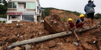 سقوط 100 قتيل إثر حادث انزلاق التربة في ميانمار حتى الآن