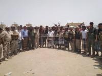 قافلة إمدادات أبناء العياسئ تستقر في جبهة أبين (صور)