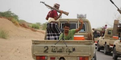 شاهد.. تدمير تعزيزات حوثية في خط زبيد بالتحيتا