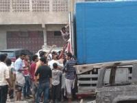 """انقطاع الكهرباء يخلف """"أزمة ثلج"""" في ردفان"""
