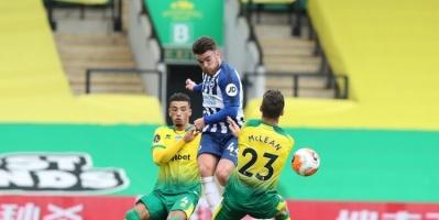 برايتون يهزم نوريتش سيتي بهدف نظيف في الدوري الإنجليزي الممتاز
