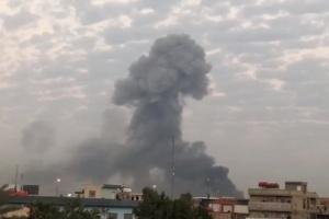 إطلاق صاروخ كاتيوشا من منطقة علي الصالح ببغداد باتجاه المنطقة الخضراء