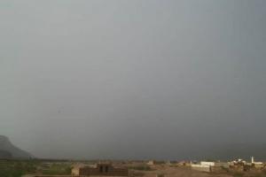 أمطار غزيرة على بعض مناطق حضرموت