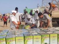 """""""خليفة الإنسانية"""" تمنح 833 أسرة مساعدات غذائية بحديبو (صور)"""