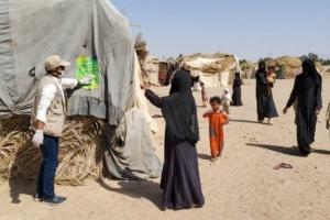 مفوضية اللاجئين توعي بحماية النازحين في الجوف من كورونا