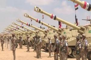 القوات المسلحة المصرية تنفذ المناورة حسم 2020 على الاتجاه الاستراتيجي الغربي