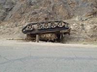 انقلاب دبابة إخوانية في طريقها إلى شقرة