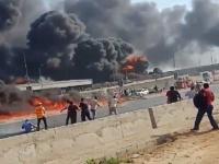 مصر: ارتفاع إصابات حريق طريق القاهرة الإسماعيلية الصحراوي إلى ١٧ إصابة