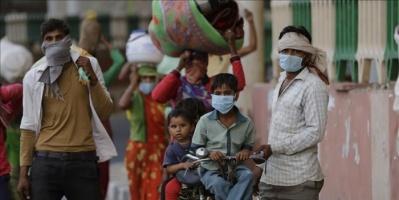 الهند تسجل قفزة قياسية في حالات الإصابة الجديدة بكورونا