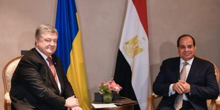 الرئيس المصري يبحث مع نظيره الأوكراني الملف الليبي