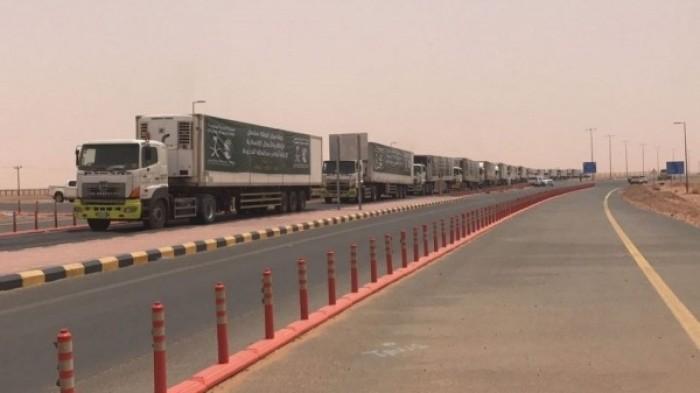 18 شاحنة إغاثية سعودية تنقل مساعدات إلى 4 محافظات