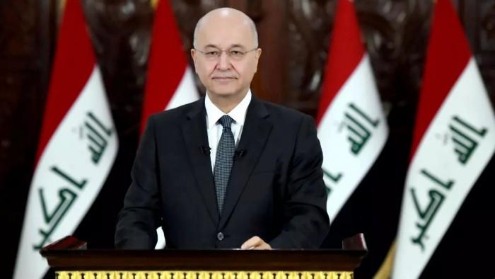 الرئيس العراقي يعلن دعمه لحل البرلمان وإعادة انتخابه بأسرع وقت