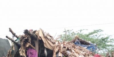 تضرر 339 أسرة نازحة في أبين من السيول
