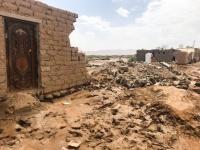 مساعدات لأكثر من 400 متضرر جراء السيول