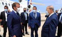 الرئيس الفرنسي يصل إلى لبنان ويزور موقع التفجير في بيروت