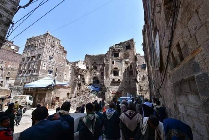 تهدم 40 منزلًا تاريخيًا في مدينة صنعاء القديمة