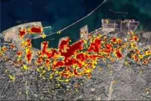 ناسا توثق بالصور الضرر الناجم عن انفجار بيروت