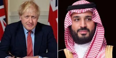 ولي العهد السعودي يبحث مع جونسون الأوضاع بالمنطقة