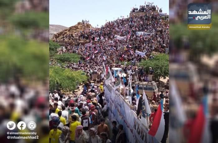 مليونية تأييد الانتقالي تفقد مليشيات الإخوان عقلها في شبوة