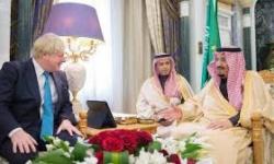 الملك سلمان يبحث مع جونسون أعمال دول مجموعة العشرين