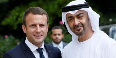 بن زايد يبحث مع ماكرون جهود السلام في الشرق الأوسط