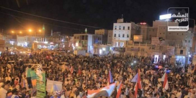 مظاهرات المكلا تمهد لانتفاضة شعبية ضد الشرعية بالجنوب
