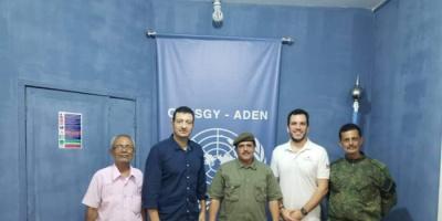 نائب مدير أمن عدن يطلع مكتب غريفيث على الوضع الأمني