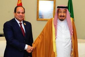 العاهل السعودي وولي العهد يتلقيان برقية تهنئة من الرئيس المصري
