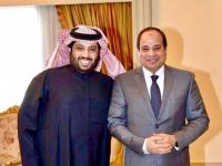 تركي آل الشيخ يهدي الرئيس السيسي أبيات شعرية