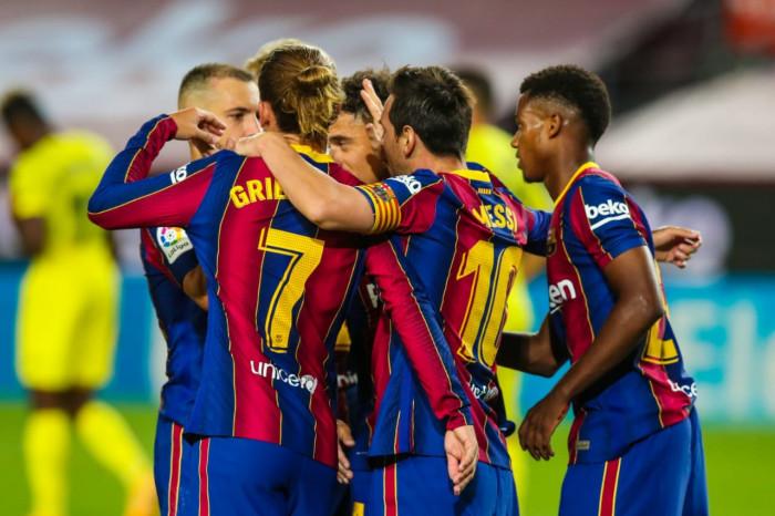 ميسي وفاتي يقودان برشلونة للفوز على فياريال برباعية بالدوري الإسباني