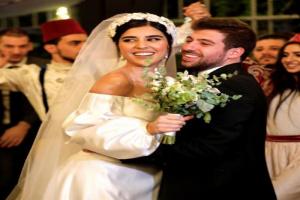 بالفيديو.. زينة مكي تحتفل بزفافها على نبيل خوري