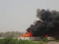 """قصف """"أخوان ثابت"""".. مجمع طاله كثيرٌ من الإرهاب الحوثي"""