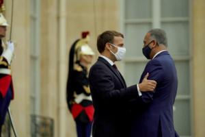 تفاصيل لقاء الوزراء العراقي بالرئيس الفرنسي في الأليزيه