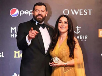 """""""مع حبيبي أبو حياة"""".. كندة علوش بصحبة زوجها عمرو يوسف في مهرجان الجونة"""