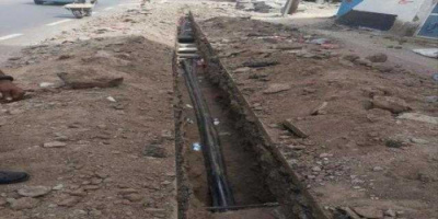 إصلاح عطل بكيبل كهرباء في ساحل حضرموت