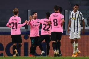برشلونة ينجح في الفوز على يوفنتوس بهدفين نظيفين