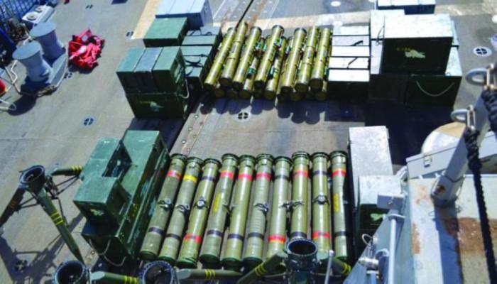 أمريكا تصادر شحنة سلاح إيراني مهربة للحوثيين